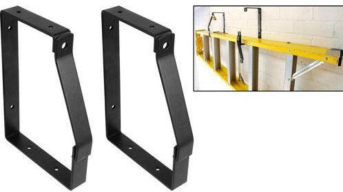 170 X 245mm Padlockable Heavy Duty Ladder Wall Mounted Brackets Hooks Locking Ironmongery World