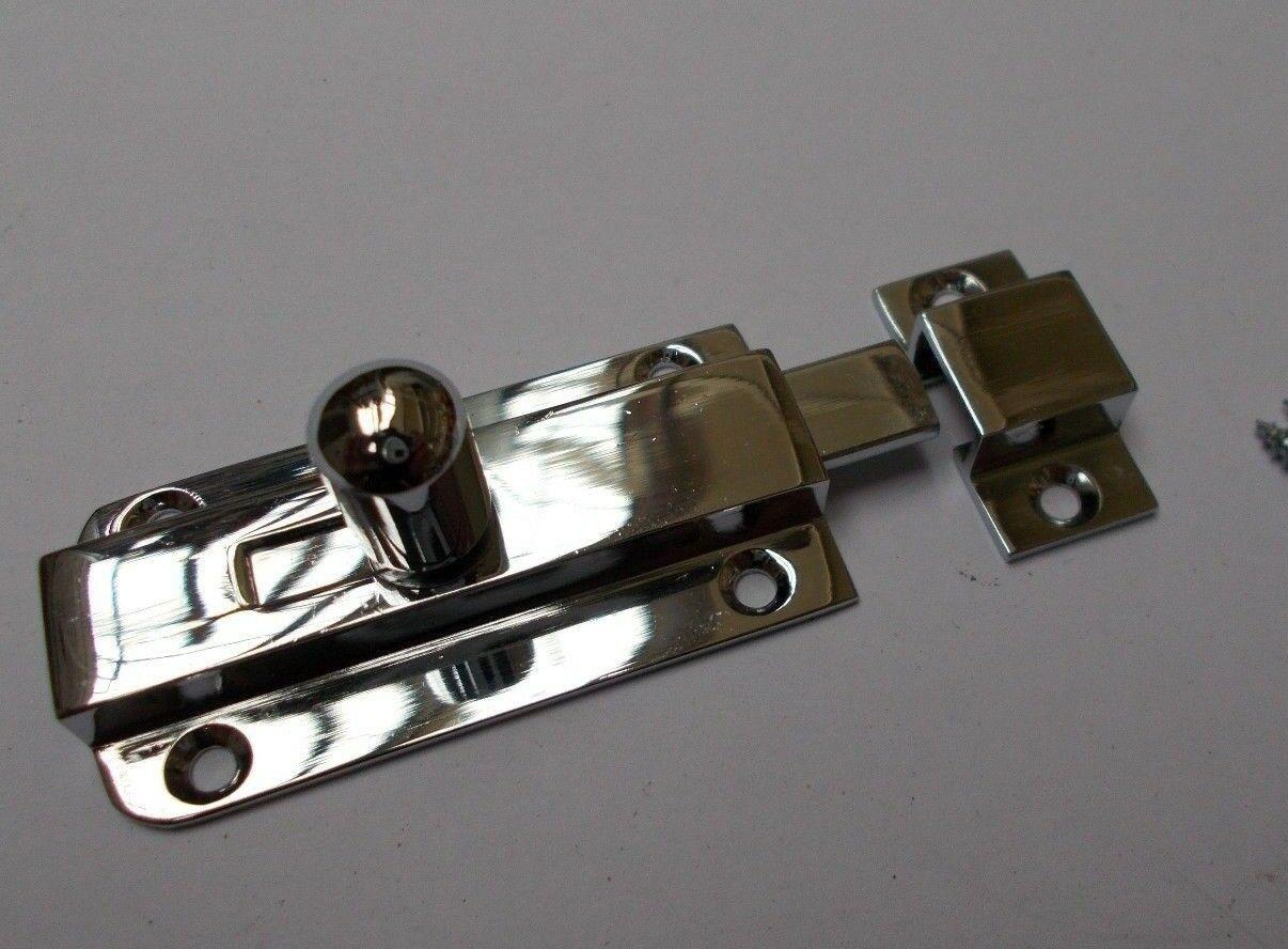 Antique Style Door Bolt Black Cast Iron Sliding Lock//Latch