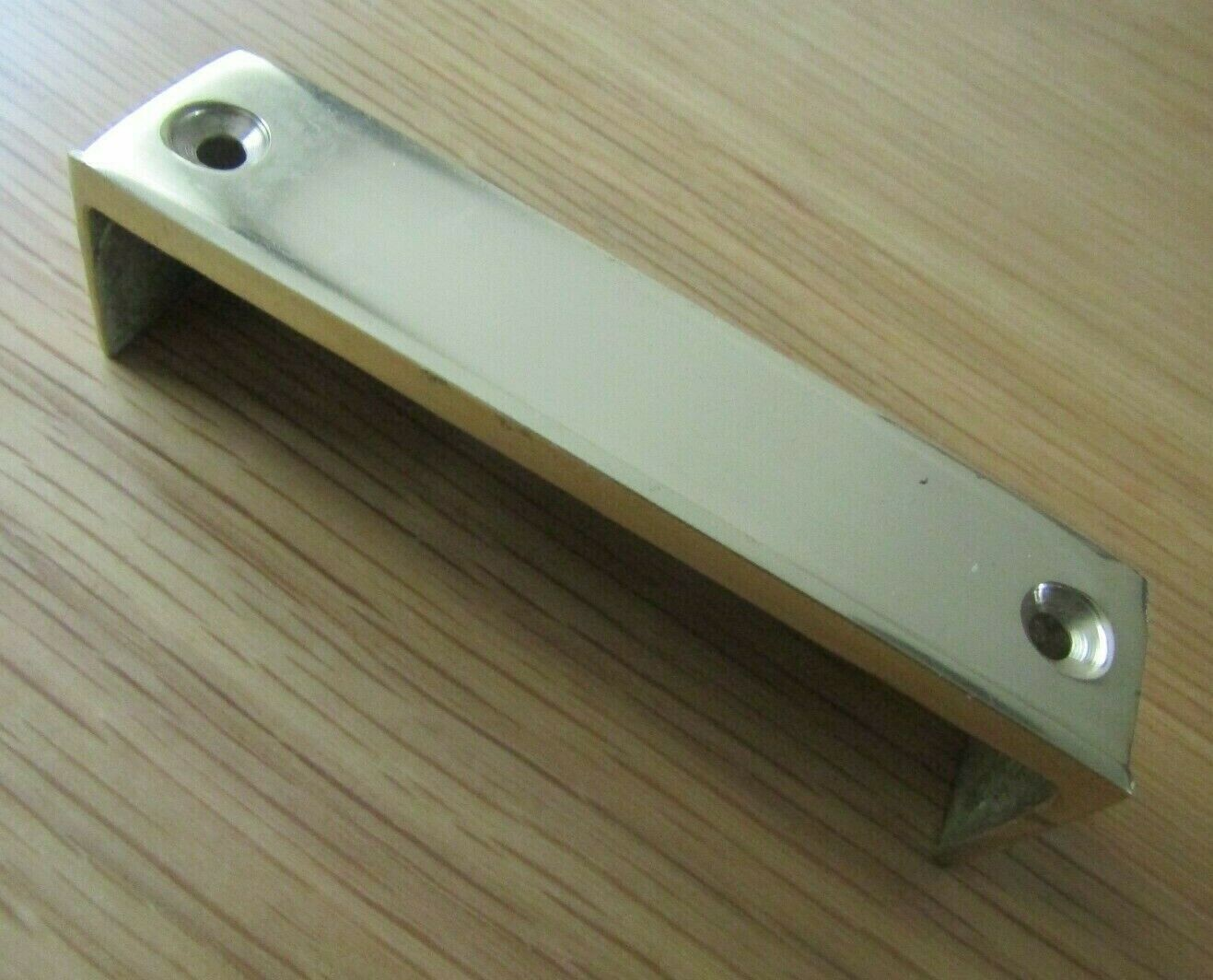 SOLID BRASS RIM LOCK KEEP Latch Striker Plate door keeps Victorian latch lock