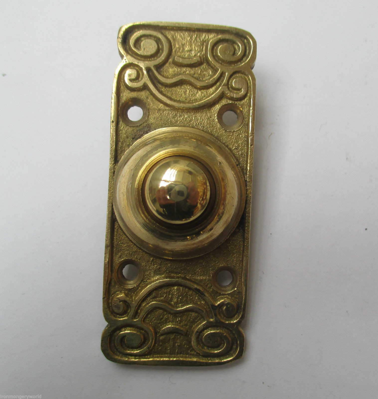 Victorian traditional old style bell push door bell wired for Door bell push