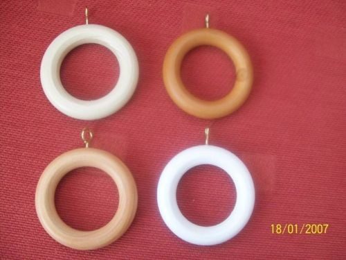 Wooden Curtain Rings With Brass Eyelets Lightbox Moreview