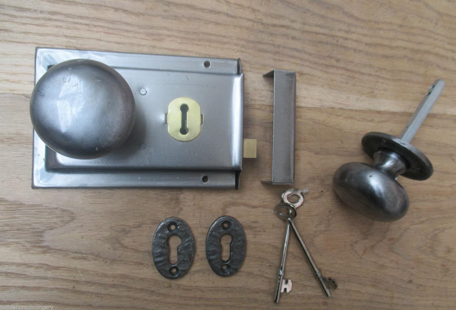 Classic Old English Rim Door Lock And Knob Handle Set Ai