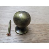 30MM Ball Cabinet Knob antique brass