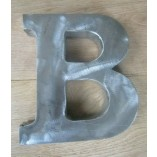 "8"" Large Rustic Steel Letter B"