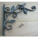 Bird on Branch Hook Bracket Antique Iron