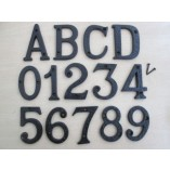 Black Antique House Door Letters and Numbers