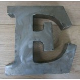 "8"" Large Rustic Steel Letter E"