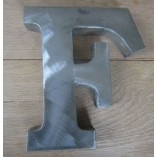 "8"" Large Rustic Steel Letter F"