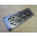 Floral Repair Plate Antique Iron