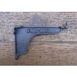 "Pair Of 6"" GWR Lipped Brackets Antique Iron"
