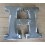 "8"" Large Rustic Steel Letter H"