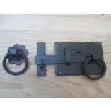 Left Handed Black Wax Ring Door Latch Handles Gate Shed