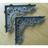 Pair Of Lunar Shelf Brackets Antique Iron
