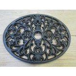 Cast Iron Oval Decorative Trivet
