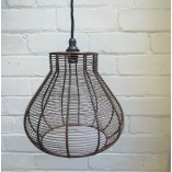 Pear Drop Wire Pendant Shade Antique Copper