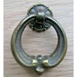 40mm Richmond Ring Pull Handle Antique Brass