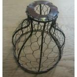 6'' Bell Chicken Wire Light Shade Antique Iron