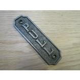 Cast Iron Door Pull Plate Plaque