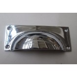 Small Rectangular Cup Handle Polished Chrome