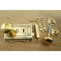 Davenport Style Rim Lock Set