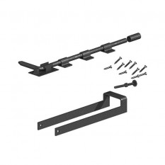 Double Field Gate Fastener Set - Premium Black