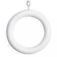 100 Piece White Plastic Rings