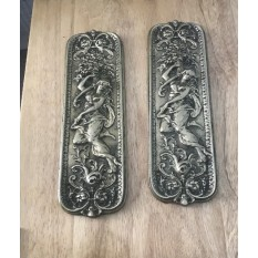 Mermaid Finger Plate Antque Brass