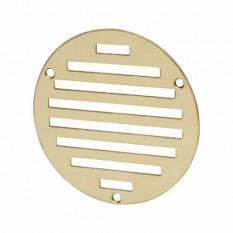 Polished Brass Slotted Air Vent 102mm Circular