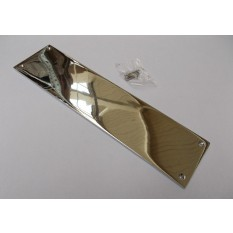 Plain Finger Plate Polished Chrome