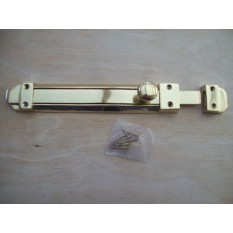 "10"" Solid Brass Surface Door Bolt"