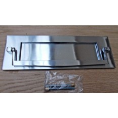 Postal Knocker Satin Chrome 10""