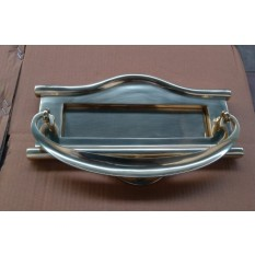 Regency Leter Plate Knocker Polished Brass