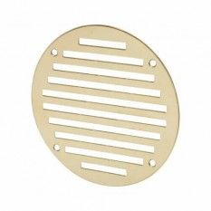 Polished Brass Slotted Air Vent 127mm Circular
