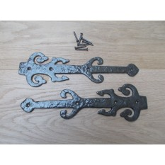 "Pair of Hinge fronts Antique Iron 12"" Decorative Ornate code 4"