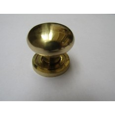 Round Cabinet Knob Polished Brass
