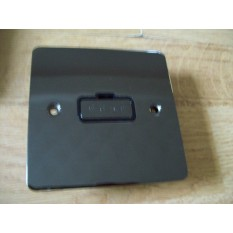 Black Nickel Switch Plate 13A Fused Spur