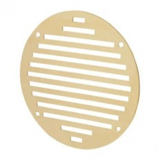 Polished Brass Slotted Air Vent 152mm Circular