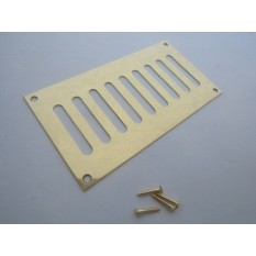 Polished Brass Slotted Air Vent 165mm x 89mm