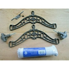 4 Lath 1883 Embossed Antique Iron Clothes Airer Kit Only