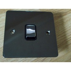 Black Nickel Switch Plate 1 gang 1 way light switch