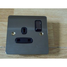 Black Nickel Switch Plate 1 gang DP Switch Socket