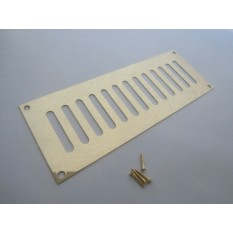 Polished Brass Slotted Air Vent 229mm x 76mm