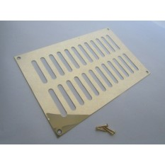 Polished Brass Slotted Air Vent 229mm x 152mm