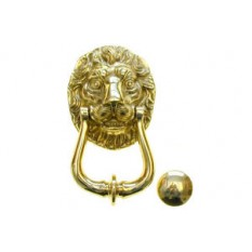 Solid Brass Heavy Lion Door Knocker