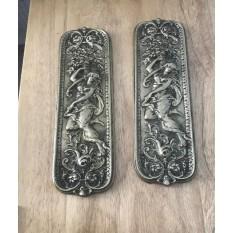 Mermaid Finger Plate Antique Brass