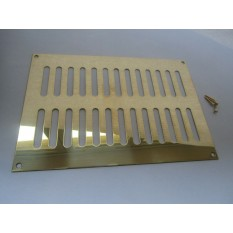 Polished Brass Slotted Air Vent 242mm x 165mm