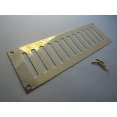 Polished Brass Slotted Air Vent 242mm x 89mm