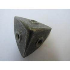 Pack Of 10 Small 28mm Round Chest Corners Antique Iron