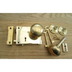 Victorian Style Rim Lock Knob Set