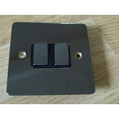 Black Nickel Switch Plate 2 gang 2 way light switch